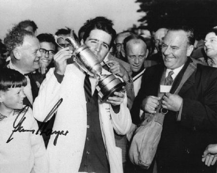 Gary Player, Open Championship 1959 Muirfield, signed 10x8 inch photo.